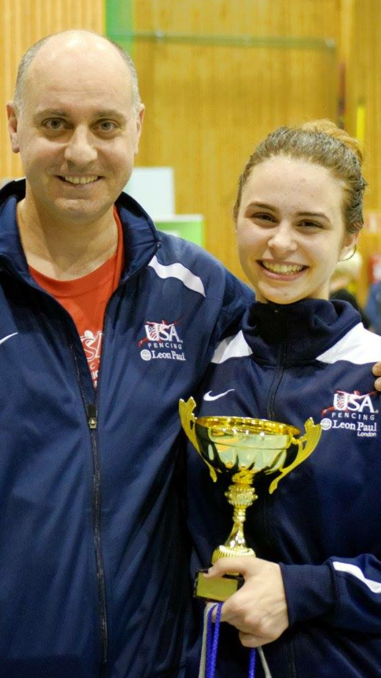 Coach Andrey with one of our Gold medalists.