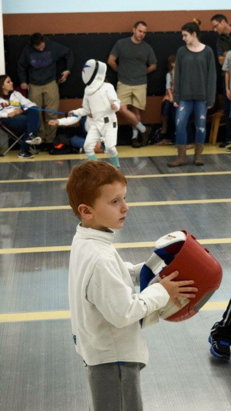 Youth fencer