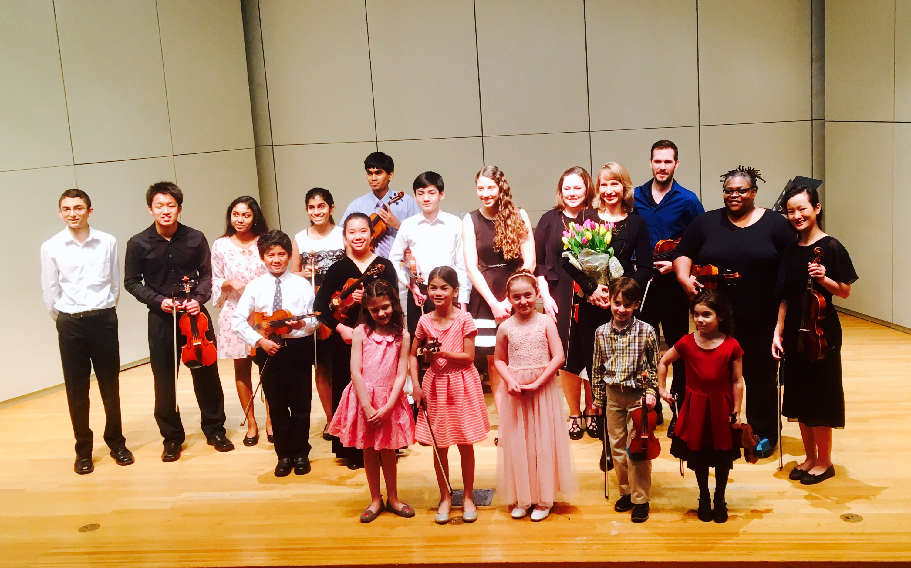 Studio recital at University of St.Thomas Cullen Hall