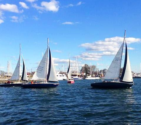 Our 23' Pearson Ensigns sailing on Long Island Sound.
