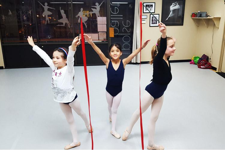 RAD Ballet Grade 1-3 students