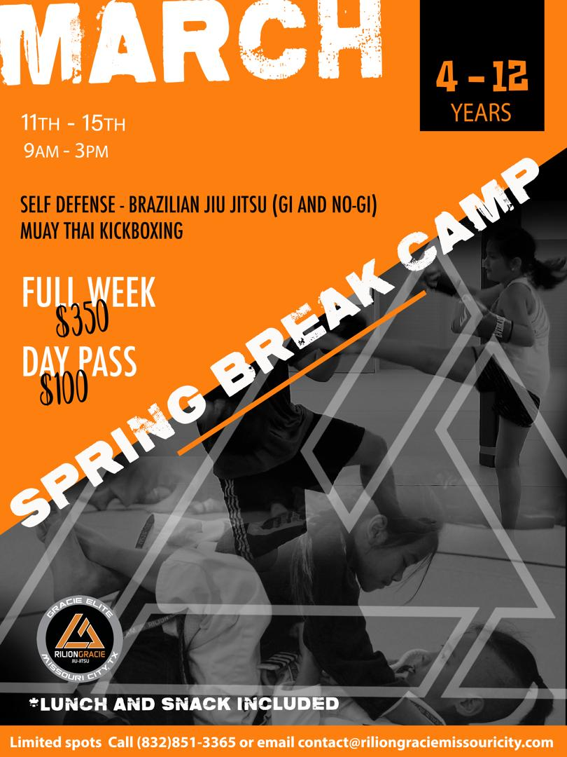 SPRING BREAK CAMP FOR KIDS March 11th - March 15th 9:00am - 3:00pm